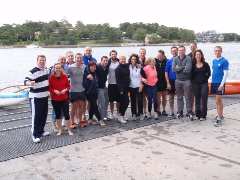 University Of Sydney MBA Students Team Building - Learn to Paddle Course 2013