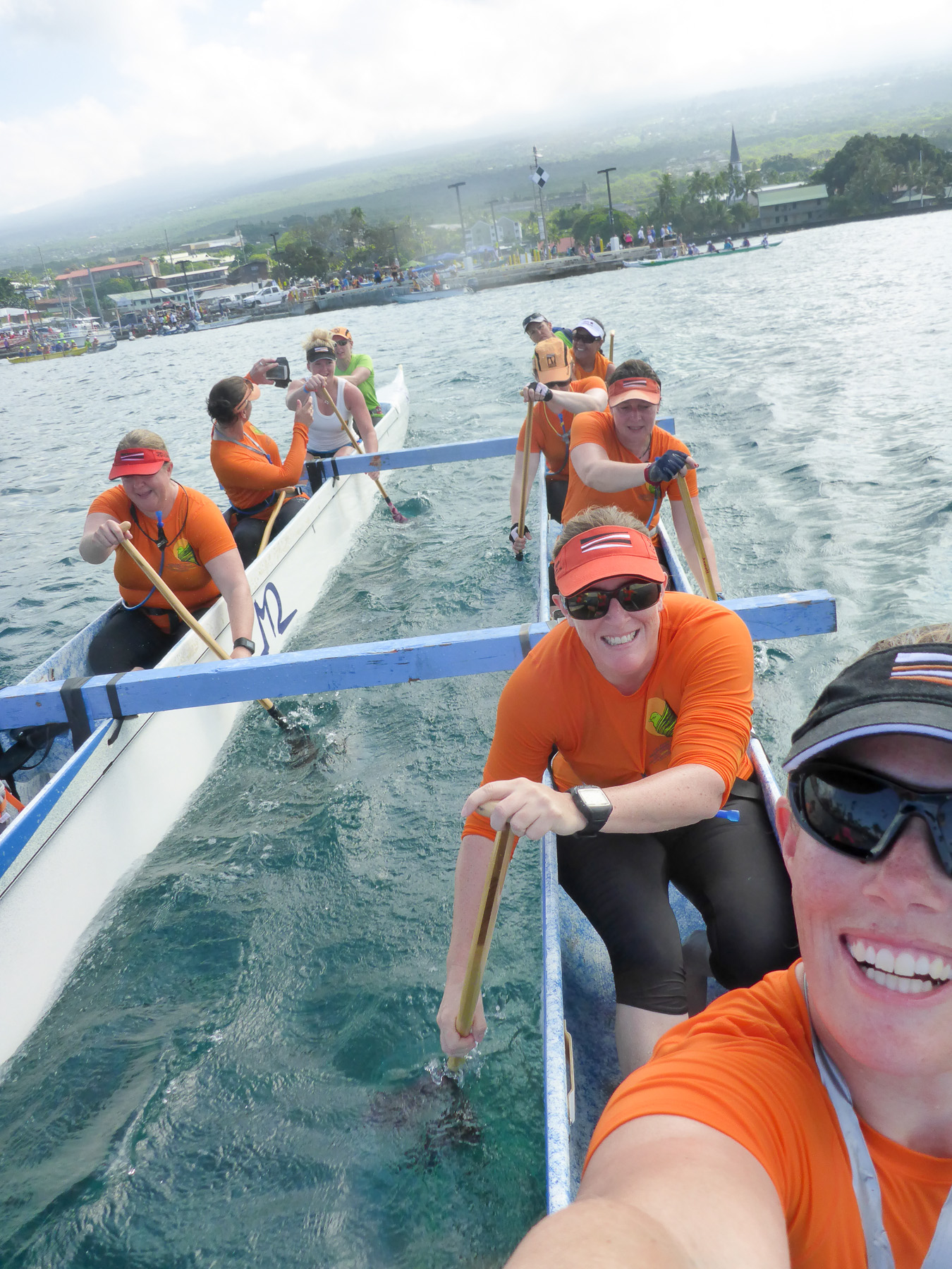 PD chicks in the Queen Lili'ukalani OC12 race